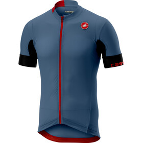 Castelli Aero Race 4.1 Solid FZ Jersey Men light steel/blue